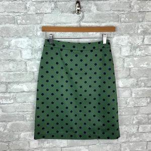 Boden Cotton Polka Dot Skirt